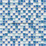 공상 Style Blue & Glass를 가진 White Ice Crackle Ceramic Mosaic