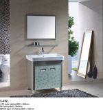 Шкаф тщеты ванной комнаты нержавеющей стали с освещенным зеркалом