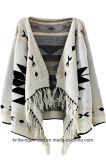 Dame Fashion Sweater Jacket durch das Häkelarbeit-Stricken (W17-727)