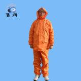 Heißer verkaufender erwachsener wasserdichter Hodded Regenmantel