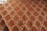 2016 빨간 브라운 100%년 폴리에스테 셔닐 실 자카드 직물 소파 직물 (FTH31561)