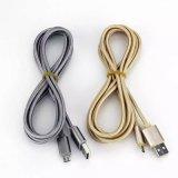 Micro cavo di carico Braided di nylon ad alta velocità del USB di dati 2.4A