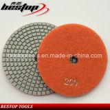 Tampón para pulir mojado seco flexible del diamante consolidado de la resina para el granito/el mármol/el concreto