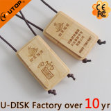 Kundenspezifisches Laser-Zeichen fördern Holz USB Pendrive (YT-8106)