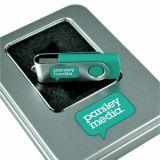 Movimentação relativa à promoção do flash do USB do giro dos presentes do logotipo feito sob encomenda quente do OEM
