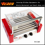 Form Durable Sausage Machine, 9 Rollers Electric Hot Dog Grill mit Curve Glass Cover, CER Approved (WY-009C)