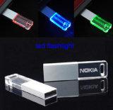 Azionamento acrilico trasparente acrilico del USB di memoria Flash 128MB-64GB con il LED