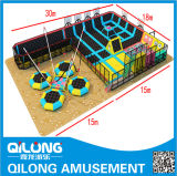 Trampoline met Reeks van de Speelplaats van Kinderen de Zachte (ql-K1002)