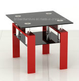 유리와 High Glossy MDF Square Small Coffee Table (BR-CT196S)