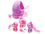 Cavalo plástico macio do brinquedo da menina no presente da promoção do carro do ovo (H0839018)