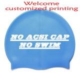 低価格のカスタマイズされた印刷のロゴのシリコーンの水泳帽