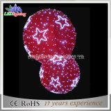 indicatore luminoso di motivo della sfera di natale 3D di 120cm per esterno