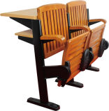 Wood contínuo Students Desk e Chair Set