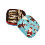 Caixa quadrada da lata dos biscoitos do metal (S001-V15)