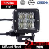 20W lumière de travail de la cosse DEL (3inch, l'inondation diffuse, IP68 imperméabilisent)