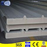 Panneau de mur de panneau de sandwish d'unité centrale/panneau de toit sandwich à polyuréthane pour des matériaux de construction