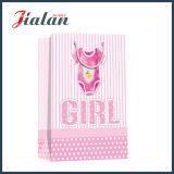 Concevoir le sac de papier de vêtement estampé par logo de garçon et de fille