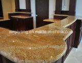 Mesa de bancada em mármore amarelo em madeira (YQC-MC1002)