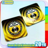 Logotipo RFID impresso NTAG215 Etiqueta NFC Anti Metal Tag