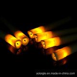 Velas plásticas bajas blancas de la llama del amarillo negro del fieltro que oscilan LED