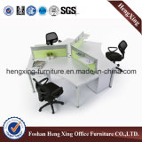 4개의 시트 Best Price 4melamine Office Partition /Workstation (HX-6M207)