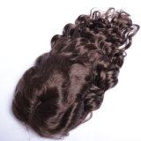 Des Menschenhaar-#4 für Afroamerikaner färben Perücke-brasilianisches loses Wellen-Form-Art-Spitze-Vorderseite-Perücke-Menschenhaar