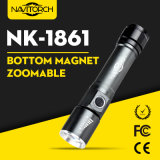 Tocha da lanterna elétrica do diodo emissor de luz do CREE do foco ajustável mini, baterias incluídas, lanterna elétrica do diodo emissor de luz de Zoomable (NK-1861)