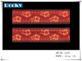최고 가격 폭 18cm를 가진 탄력 있는 분홍색 좁은 레이스 손질