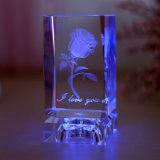 mestiere di vetro del cubo di cristallo del laser 3D per i regali di cerimonia nuziale di compleanno (ks25218)