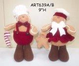 서 있는 진저브레드 및 아기 의 2 Asst 크리스마스 훈장