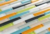 Het populaire Mozaïek van het Patroon van de Strook van het Glas van de Kleur van het Ontwerp Eeuw Gemengde