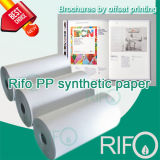 Papel sintético Printable do offset flexível do nível superior de Rifo com RoHS