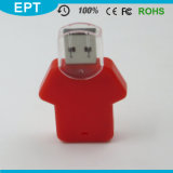 Ropa formada L mecanismo impulsor de encargo del flash del USB de la insignia del ABS para la muestra libre
