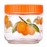 Decal Wholesale Fruit Decal Food JarのロシアStyle Glass Jar