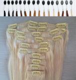 White Women를 위한 Hair Extensions에 있는 인간적인 Hair Clip