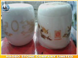 De marmeren Pot van de Crematie van de Urn van de Crematie In het groot