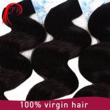 Trama 100% brasileira humana do cabelo da onda do corpo da alta qualidade