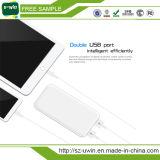 Cargador portable ultra delgado hecho salir USB dual de la batería de la potencia