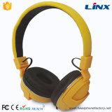 Beweglicher gelber Farben-Kopfhörer mit gutem Entwurf