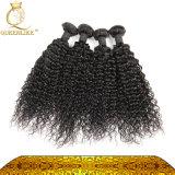 extensão Curly Kinky brasileira do cabelo humano de #1b 8A