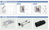 10FT kurvte Aluminiumspannkraft-Gewebe-Bildschirmanzeige-Fahnen-Standplatz