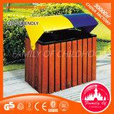 Coffre de rebut de vente d'ordures de poubelle en bois chaude de coffre en stationnement