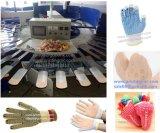 Antibeleg Kurbelgehäuse-Belüftung, das Handschuh-rotierende Silk Bildschirm-Drucken-Maschine für Verkauf punktiert