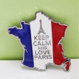 Магниты холодильника металла карты Франции подарка сувенира перемещения Европ