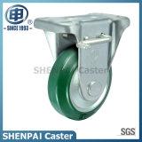 4 Zoll Stahl-Kern steifes sperrenfußrollen-Gummirad