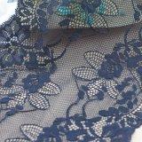 Guarnição preta do laço do jacquard para o roupa interior