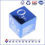 Rectángulo de empaquetado de papel modificado para requisitos particulares de la cartulina de plata cosmética
