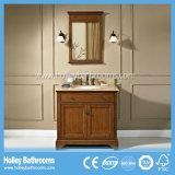 Mobilia a più strati classica popolare della stanza da bagno di legno solido (BV212W)