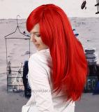 Hochwertige schiefe Knall-gerades Haar-Lattichanime-Perücken