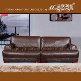 Reino Unido Sofá moderno do couro genuíno da mobília da sala de visitas (1008#)